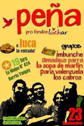 Apoya la lucha estudiantil, apoya la lista de LUCHAR a la Fech