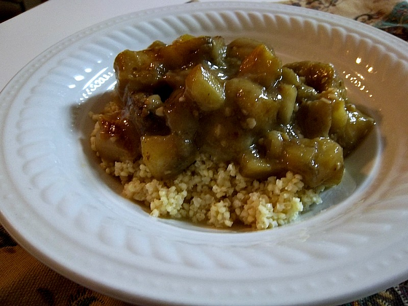 Eggplant Green Curry with Millet