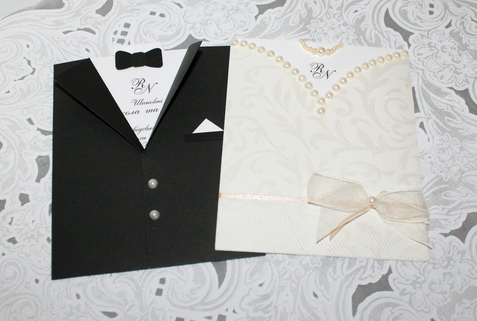 Пару варіантів запрошення на весілля