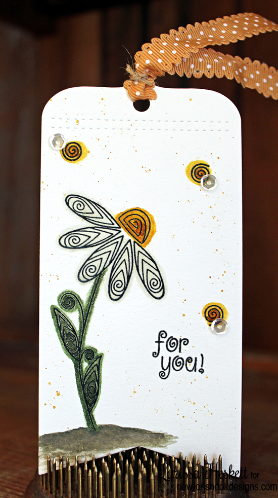 Friendship Flower Tag by Larissa Heskett | Beautiful Blossoms stamp set by Newton's Nook Designs