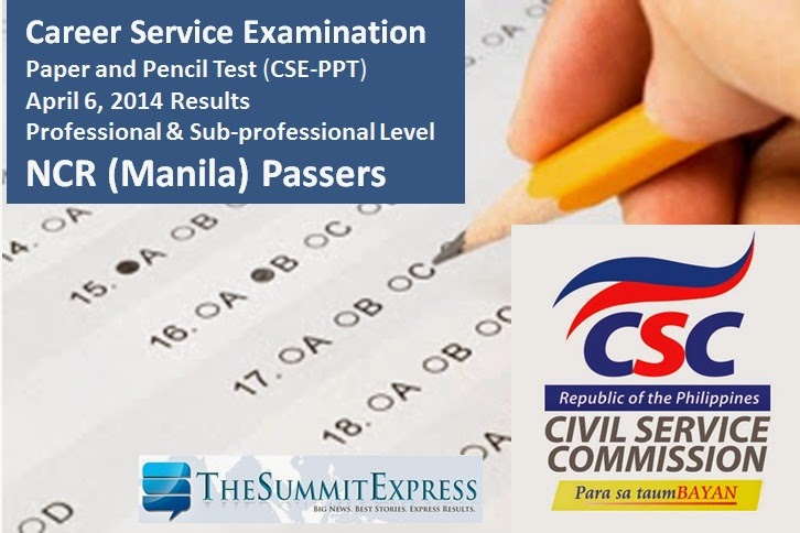 CSE-PPT Manila Passers April 2014