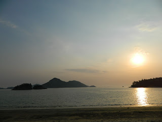 sunset at Seonyudo island