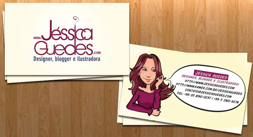 Imagem expondo o cartão de visitas do JéssicaGuedes.com