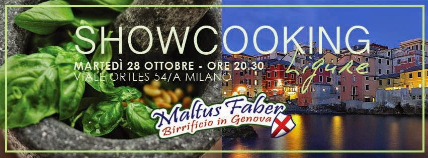 Martedì 28 ottobre nel loft Lorenzo Vinci showcooking ligure con open beer