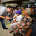 Elderly  people receive pension from DSWD