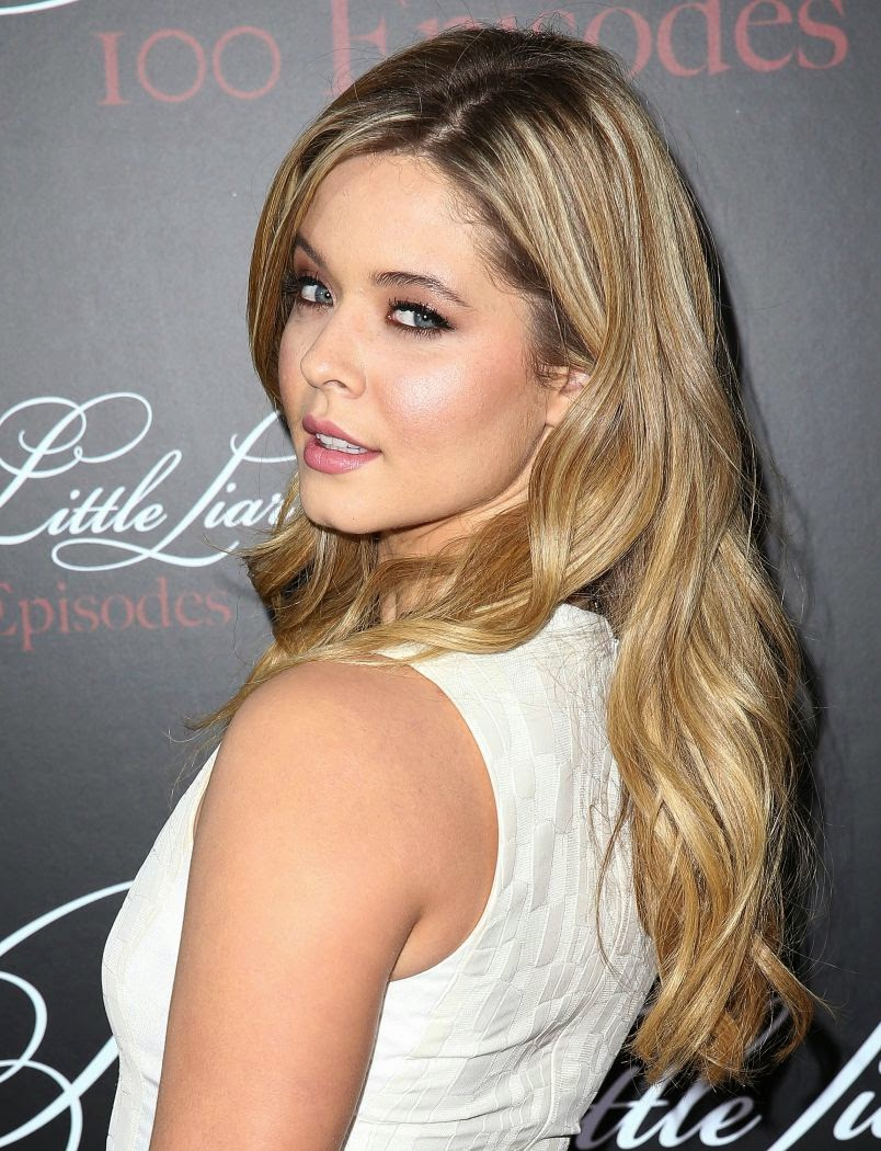 Sasha Pieterse in White at 'Pretty Little Liars' 100th Episode Celebration Party