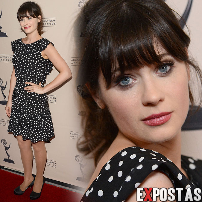 Zooey Deschanel: Academy Of Television Arts & Sciences Cocktail Reception na Califórnia - 20 de Agosto de 2012