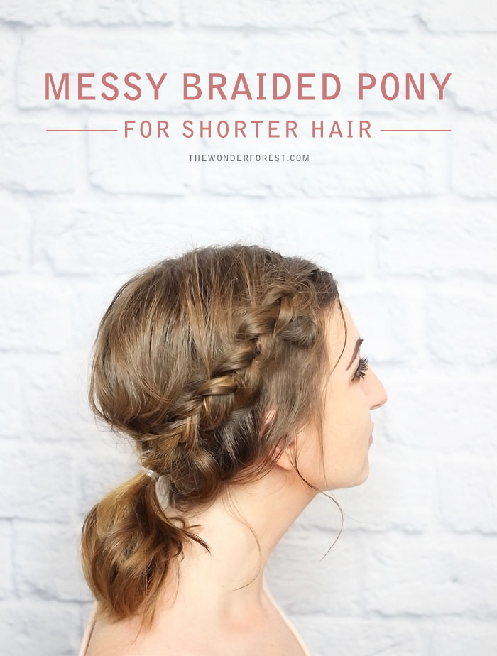 Messy Braided Ponytail for Shorter Hair - Tutorial