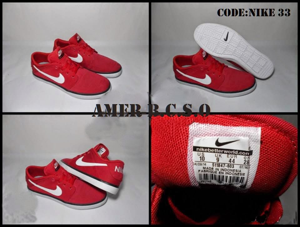 NIKE SUKETO LOW CANVAS RED SIZE 44 HARGA RP550000
