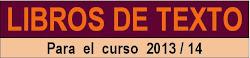 LIBROS DE TEXTO CURSO 2013/14