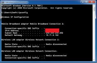 Cara mengetahui alamat IP komputer kita