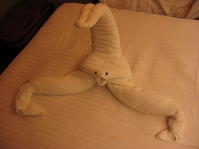 Hotel Towel Origami Seen On www.coolpicturegallery.us