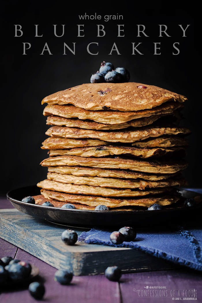 Confessions of a Foodie: Whole Grain Blueberry Pancakes
