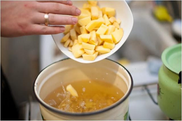 картофель в борще