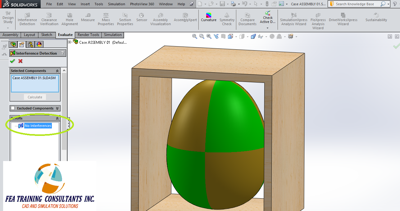 interfernce verfication tool solidworks