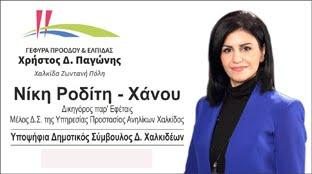 Νίκη Ροδίτη Χάνου υποψήφια δημοτική σύμβουλος Δήμου Χαλκιδέων