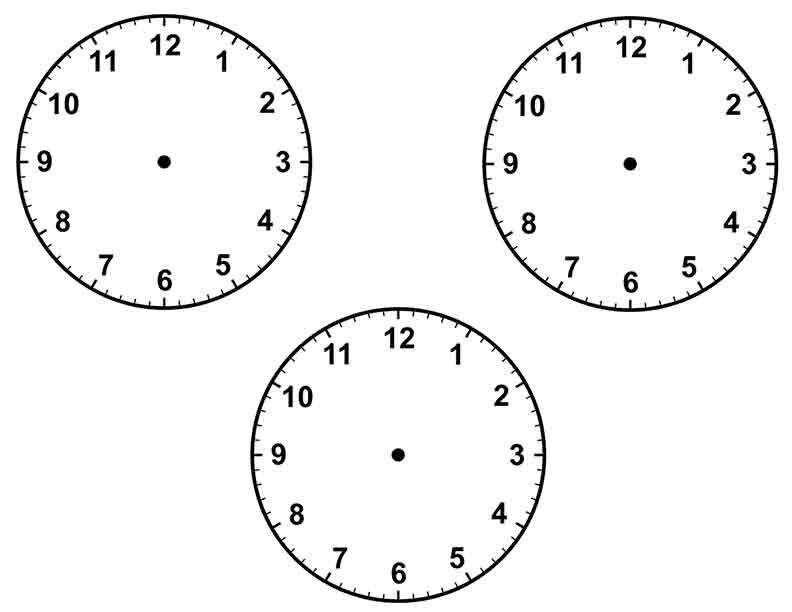 Go Back > Gallery For > Blank Clock Face Template