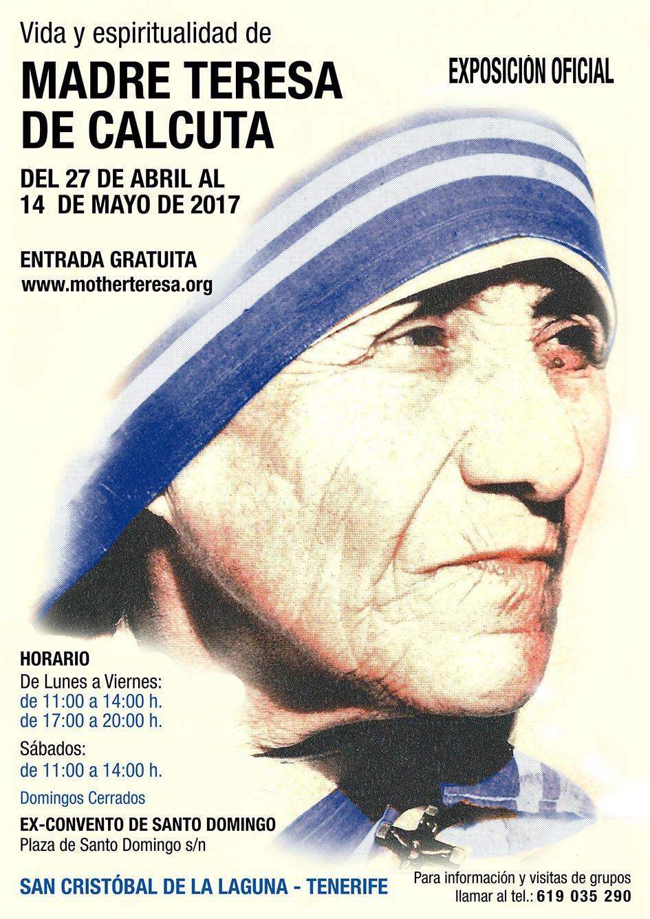 ACTUALIDAD DIOCESANA   Exposición sobre la Madre Teresa