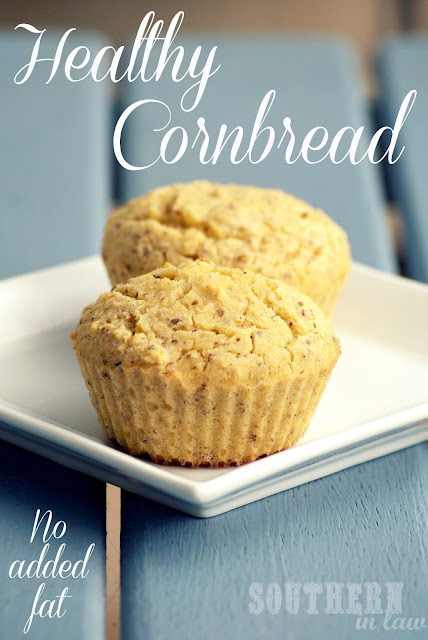 Low Fat Healthy Cornbread Recipe - Gluten Free, Vegan