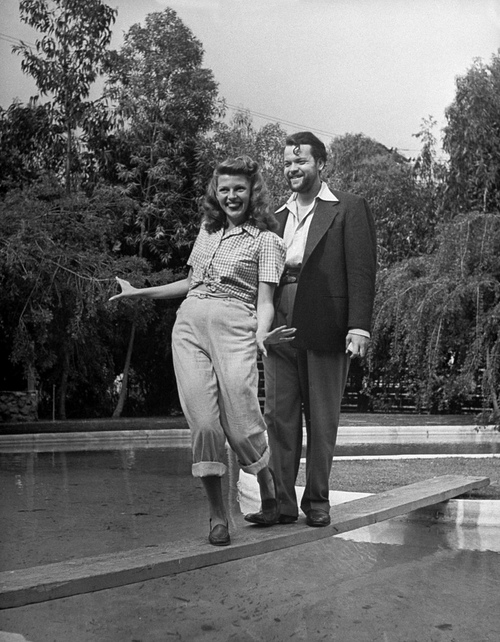 Orson Wells y Rita Hayworth