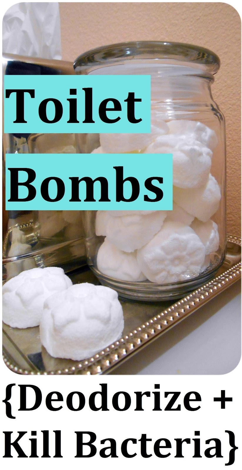 DIY Toilet Bombs - Deodorize & Kill Bacteria! Just Drop Them in the Bowl;-)))