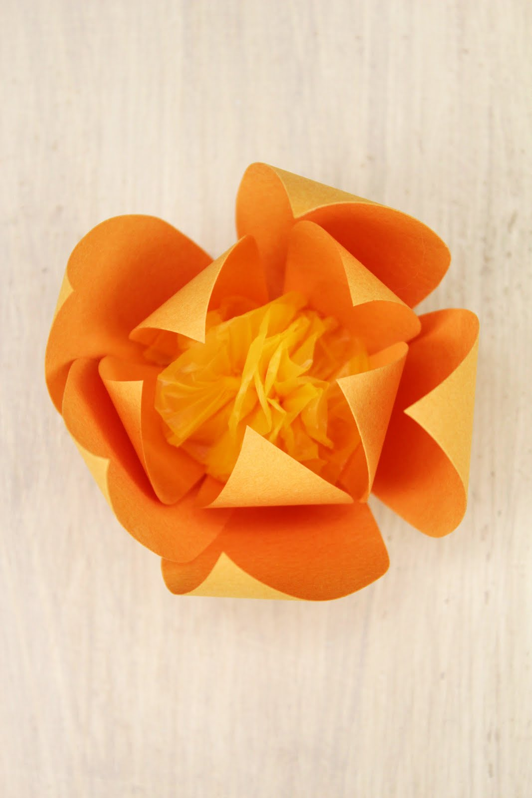 Be Differentt Normal How To Make A Paper Flower
