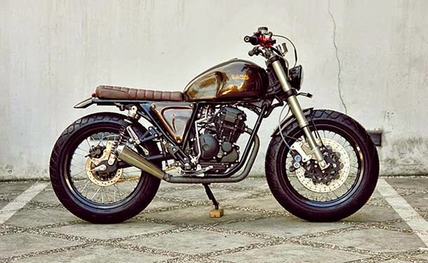 modifikasi motor yahama scorpio jap style