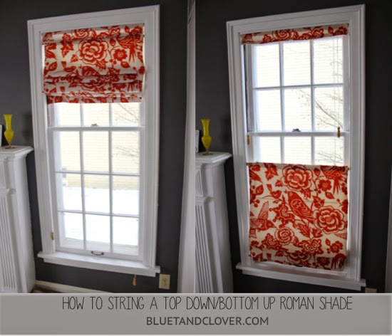 Bluet & Clover: How to String Top Down/Bottom Up Roman Shade