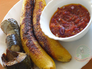 Boli , Nigerian Roasted Plantain , (Nigerian Grilled Plantain), how to make boli