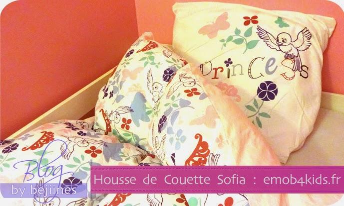 Bejiine s houette de couette sofia - Housse de couette princesse sofia ...
