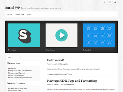 Download Tema WordPress Boxed WP