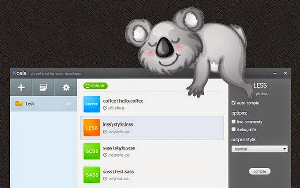 Koala App LESS and Sass compiler