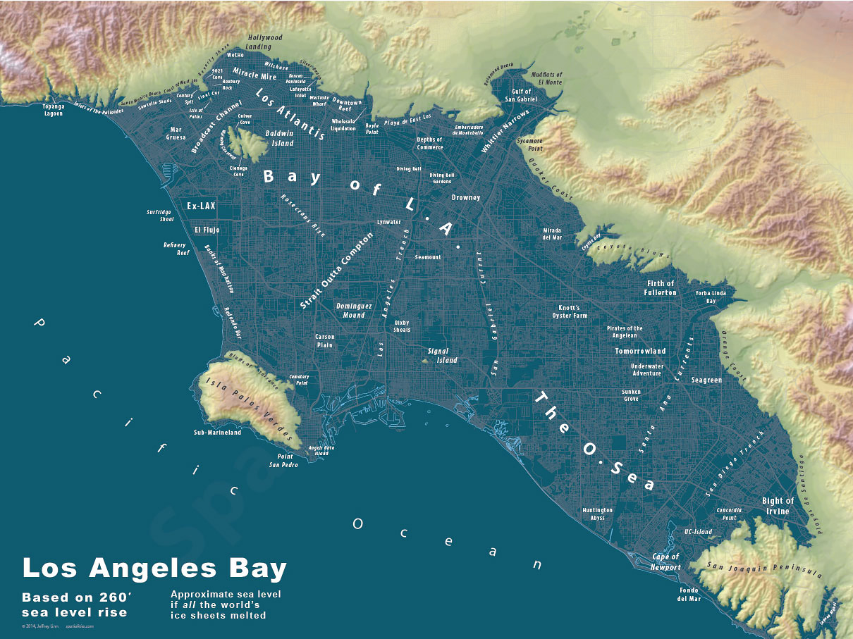 What Los Angeles would look like if all the ice caps melted