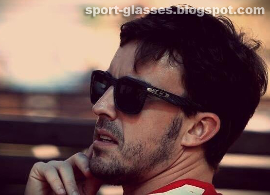 Fernando Alonso wearing Oakley Garage Rock Sunglasses