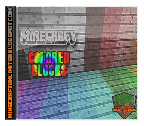 Colored Blocks Mod Minecraft
