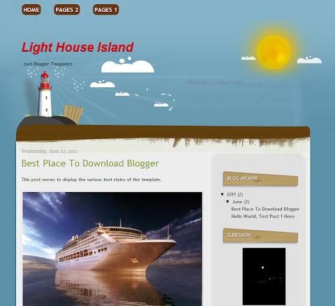 Light House Island Blogger Theme