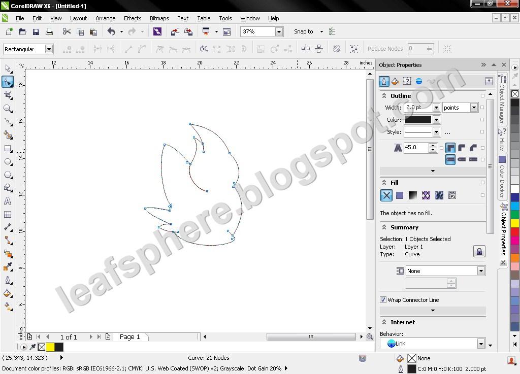 Drawing Lines In Coreldraw : Drawing zorua in corel draw