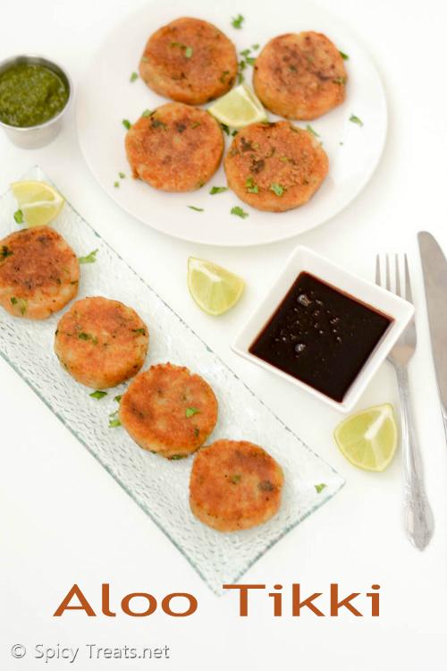 Aloo Tikki Recipe   Indian Style Potato Patties Recipe   Aloo Tikki – Easy Snack Recipe