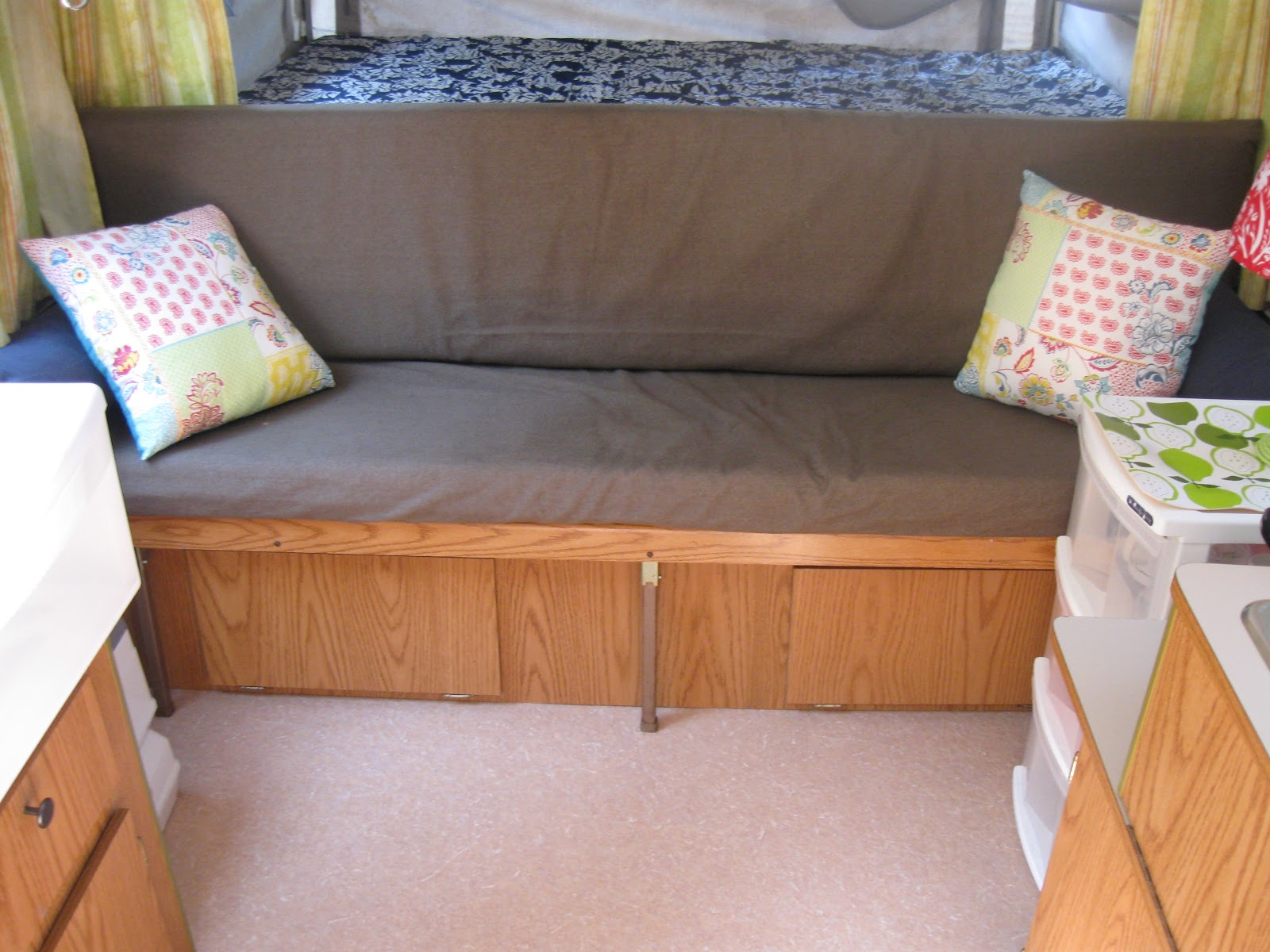 The Couch With A New Slipcover And It Folded Out Into Bed Very Handy Four Kids Plus Had More Storage Underneath