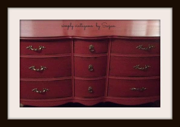 ASCP, red, emperor's silk, clear wax, dark wax, makeover, dresser