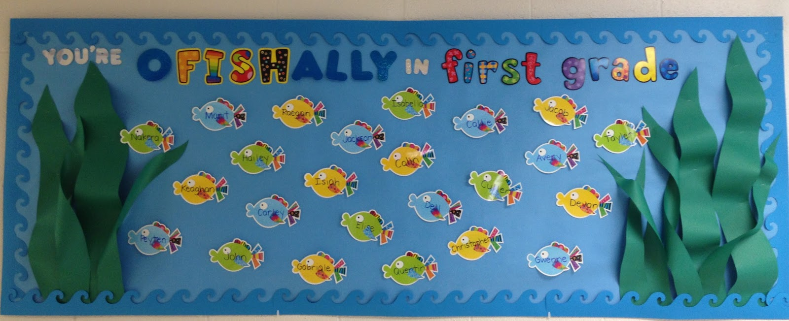 From reading to recess you 39 re o fish ally in first grade for Fish bulletin board