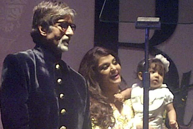 Aaradhya Bachchan at Big B Amitabh Bachchan's 70th Birthday Bash Aara3