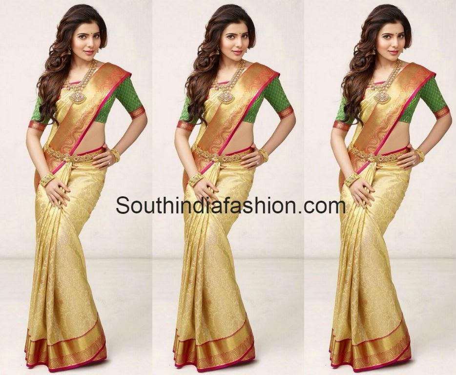 samantha in south india shopping mall saree ad