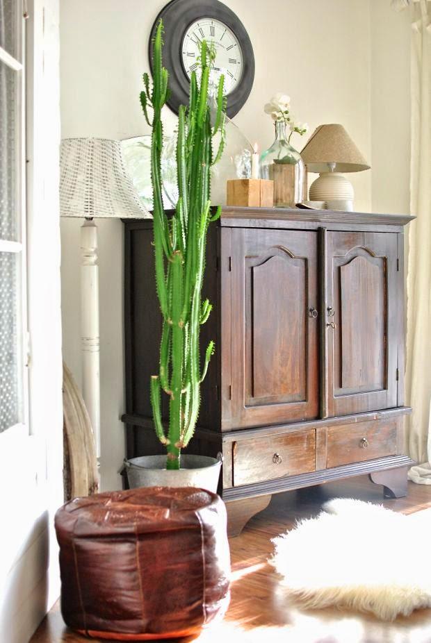matrum tv-skåp skinnpuff stor kaktus