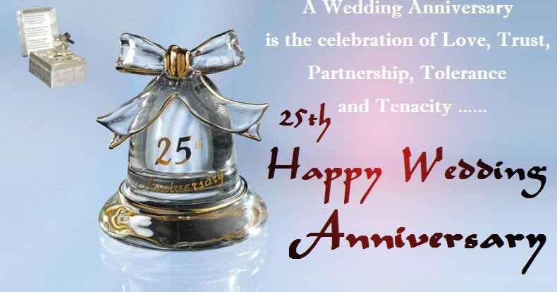 25th Silver Jubilee Anniversary Wishes Cards