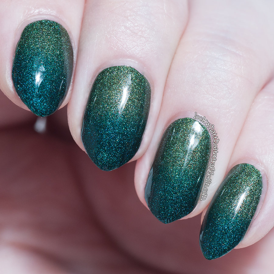 Holo gradient using A-England Dragon and St George