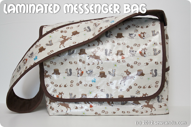 Sew Can Do: Making A Laminated Messenger Bag