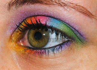 maquillaje arcoiris