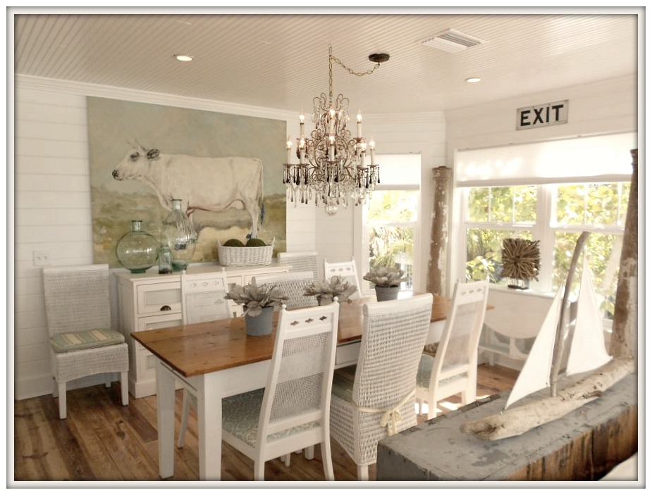 Farmhouse DIning Room-Serendipity I- Ana Maria Island Rental- From My Front Porch To Yours