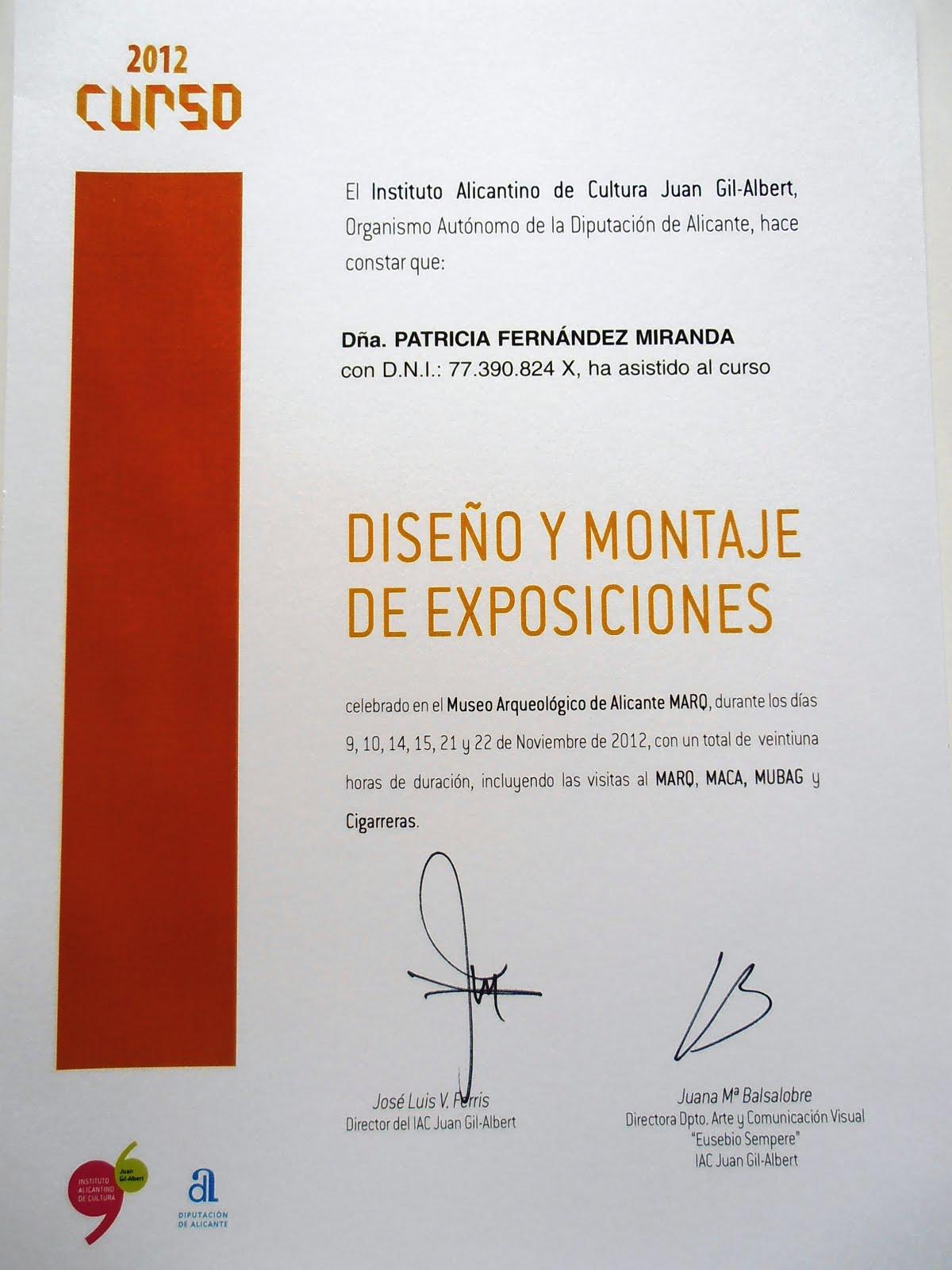 Curso Diseño y Montaje de Exposiciones